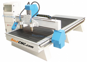 CNC Router Milling XJ1325-BGLW2H machine, 2 Spindles 3.0KW Each