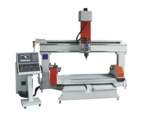 CNC 5 Axis Router Rotary Table Horizontal All Servo Industrial Controller