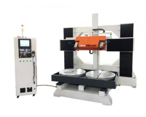 CNC Router 5 axis Milling 2 Tables Rotry
